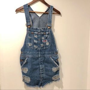 Vintage Big Mac shortall overall shorts size S/M